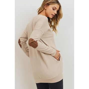 Elbow Patch Sweater with Pockets