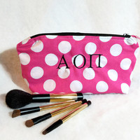 Sorority Fraternity Greek Letters Makeup Bag Custom Big Little Gift Cosmetic Pouch