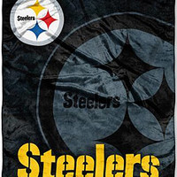 "Pittsburgh Steelers 50""x60"" Rollout Style Royal Plush Raschel Throw"