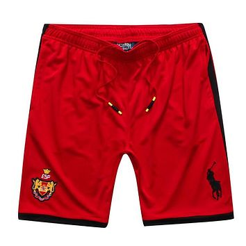 Polo Ralph Lauren Trending Stylish Embroidery Basketball Beach Sports Shorts Red I12671-1