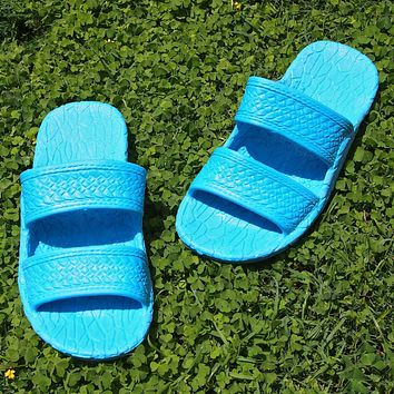kids sky blue classic jandals® -  pali hawaii sandals