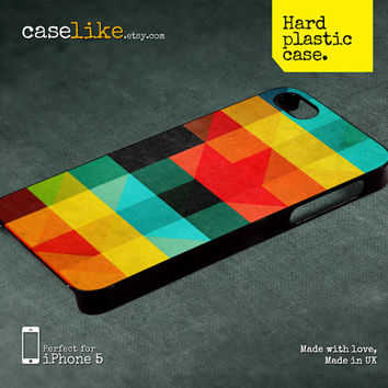 iPhone 5 Case - Colorful Square Pattern iPhone Case 2 - iPhone 4s Case / iPhone 4 Case