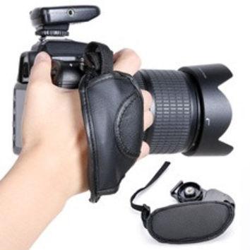Camera Wrist Strap Leather Hand Grip For Canon EOS Nikon Sony Olympus SLR/DSLR K D_L [8361477383]