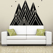 Vinyl Wall Decal Sticker Triangle Mountains #OS_MB1234