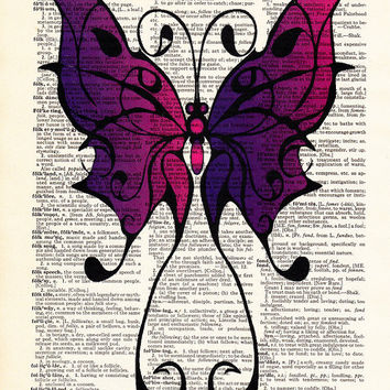 Butterfly Art- Tribal Wall Decor- Gift For Women- Office Poster Prints- Girlfriend Gift- Wife Gift- Teen Room Decor