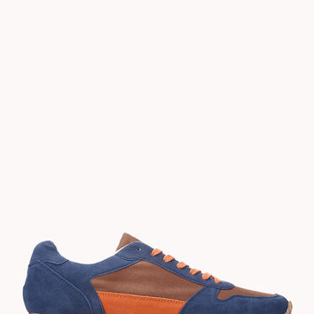 Faux Suede Athletic Sneakers