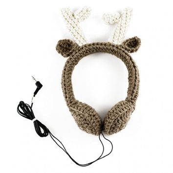 Reindeer Crocheted Headphones