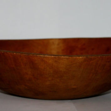 Vintage Antique Large Wood Dough Bowl Solid Maple, Awesome Center Piece