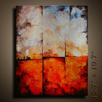 Original Abstract  Painting on Canvas Contemporary  Fine Art   Ready to Hang