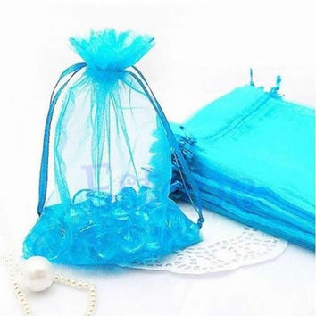 10/50/100 PCS 7x10cm Organza Jewelry Candy Gift Pouch Bags Wedding Xmas Favors [7982966407]
