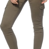 Almost Famous Olive Skinny Cargo Pants