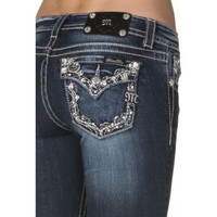 Miss Me Junior's Rhinestone Bootcut Jeans