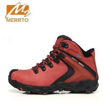 New Woman Hiking Shoes Chukka   Genuine Leather Sneaker Outdoor Sport  Waterproof Shoes