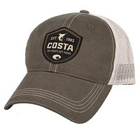 Shield Trucker Hat in Moss & Stone by Costa Del Mar