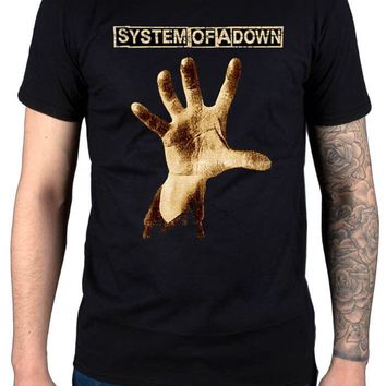 Summer Fashion System Of A Down Hand T Shirt Soad System New Merch Serj Tankian Men'S Fashion T Shirt Funny Printed Tops