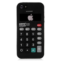 Black Calculator Silicone Case for iPhone 5 & 5s