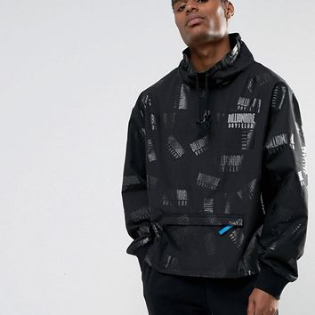 Billionaire Boys Club Overhead Jacket With All Over Reflective Logo at asos.com