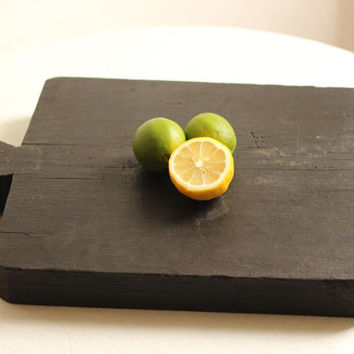Large French Rustic Antique Solid Wood Cutting Block/Chopping Block/Cutting Board / Époque Vintage