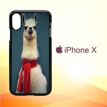 Animal Llama V0256 iPhone X Case
