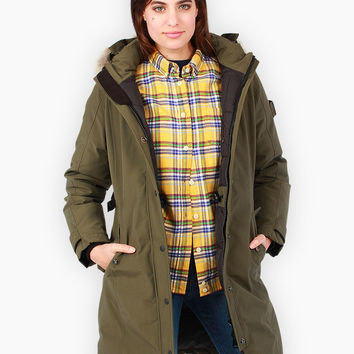 Penfield Women's Ellston Down Insulated Parka Jacket Lichen - Large
