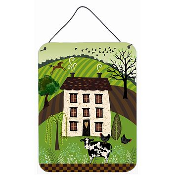 Folk Art Country House Wall or Door Hanging Prints VHA3024DS1216