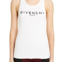 Givenchy Logo Ribbed Tank Top | Nordstrom