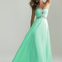 Spring Bud Modern Empire Chiffon30 Floor Length Beaded Plus Size Prom Dresses