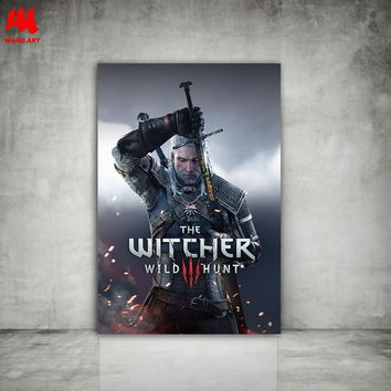 WANGART the Witcher 3 Canvas Prints Hunting Wild Game Nordic Poster Wall Pictures for Living Room Modern Home Decor JY626-627
