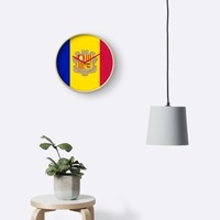 'ANDORRA' Clock by planetterra