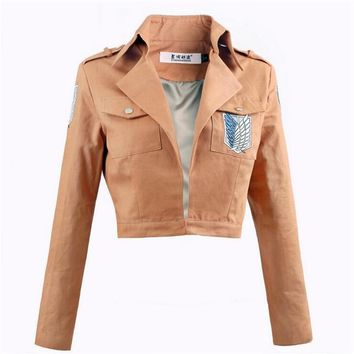 Cool Attack on Titan Anime  Giant on  Cosplay No  Uniforms Japanese Coat Women Man Adults Jacket AT_90_11