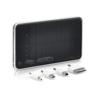 10000mAh Solar Power Charger - For iPhone, iPad + Other Devices, 2 USB Ports, Lithium Polymer Battery, Touch Button