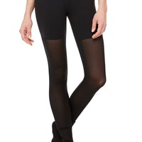 Mesh Goddess Legging - Black