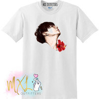 Floral Jungkook BTS T-shirt (Design by Riverflows)