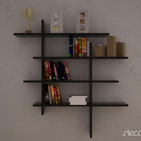 NO1 BOOKCASE WALL SHELVES by DECORTIE
