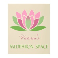 Meditation Space Lotus Flower Name Metal Print
