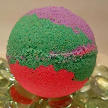 Mermaid bath bomb, oatmeal milk &honey bath bomb, colorful bath bomb, color changing bath bomb