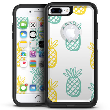 Gold and Mint Pineapple - iPhone 7 or 7 Plus Commuter Case Skin Kit