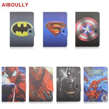 "Star Wars Force Episode 1 2 3 4 5 AIBOULLY Batman Spiderman  Universal PU Leather Case for ipad mini 1 2 3 7.9"" 7.0 inch Tablet PC Stands Holder Mount AT_72_6"