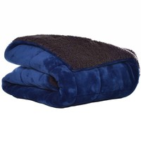Eddie Bauer Premium Solid Quilted Fleece Throw