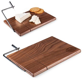 Penn State Nittany Lions 'Meridian' Black Walnut Cutting Board & Cheese Slicer-Black Walnut Laser Engraving