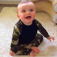 Newborn  Camouflage baby Boys Set ( Long Sleeve T-Shirts Tops Clothes + Pants outfit )