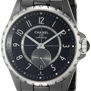 Chanel Women's H3836 Analog Display Automatic Self Wind Black Watch