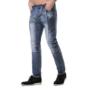 Men's Casual Patterned Denim Jeans