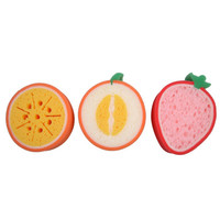 3PCS Lovely Kitchen Tool Fruit Dish Washing Cleaning Cloth Gadget Sponge Scouring Home kitchen supplies
