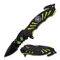 "Z-Hunter Spring Assisted Knife 3.5"" Blade-Zombie Green Liner"