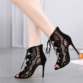 Open Toes Gladiator High Heel Shoes