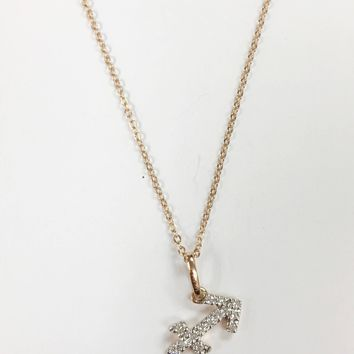 14k Rose Gold Diamond Astrology Necklaces, Choose Your Sign