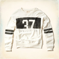 Slouchy Hollister Graphic Sweatshirt