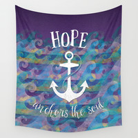 Hope Anchors the Soul Wall Tapestry by Noonday Design