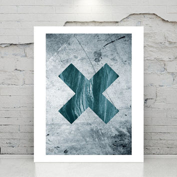 X SYMBOL wall decor, printable art, Abstract art Geometric art poster Minimal Modern Abstract Digital poster print instant download.